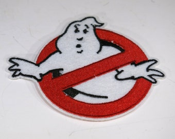 """embroidered """"ghost"""", patch, iron-on, sew-on (P8)"""