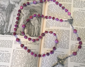Rosary from Happy Agate and Crystal
