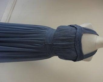 1930's Dress. Blue Haze.