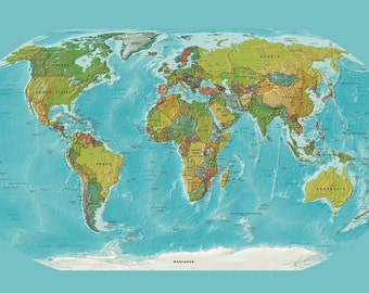 World Map Tapestry Etsy - Current world map