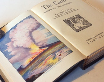 The Earth Shown to Children Vintage geology geography 1900s Shown to children textbook rare old book Science