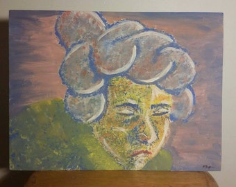 Semi-Abstract Pointillism Inspired Portrait