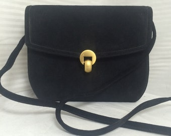 Suede leather box purse, bag,suede clutch, black suede, purses ,bags, black purse, black clutch, black box purse, shoulder bag