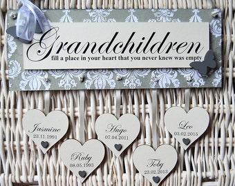 Personalised Grandchildren Wall Plaque