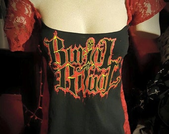 BURIAL RITUAL (Wisconsin Death Metal) Lacey Slouch Top
