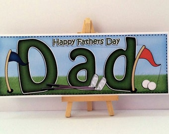 Golf Dad Card * Fathers Day Card * Dad Fathers Day Card * Golf Fathers Day Card * Dad Card * Happy Fathers Day * Golf Card * Card For Dad *
