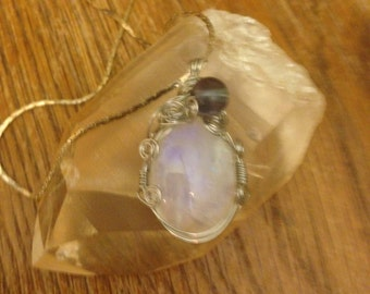 Moonstone and Flourite Necklace