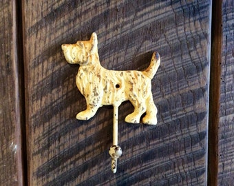 Cast Iron Scottie Hook Dog Hook Wall Hook Coastal Hook Rustic Hook Pool Hook Bath Hook Beach Towel Hook