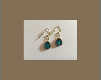 Translucent Blue Drop Earrings