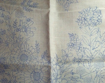 Vintage 1975 Linen Pillow Cover To Embroider