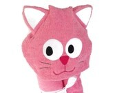 Bath Towels - Baby Girl Gift Ideas - Infant Easter Gift - Personalized Towels for Kids - Cat Towel - Baby Girl Hooded Towel - Toddler Towel