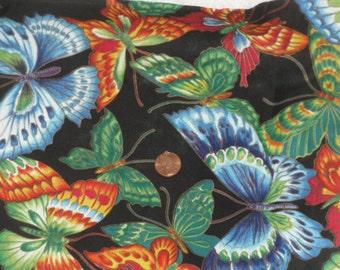 Butterflies Fabric 1 Yd Hoffman Natures Elements Butterfly Screen Print