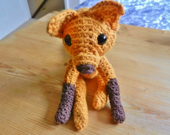 Amigurumi, crocheted, wool animals, fox, soft toy, plush