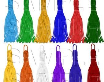 Tassel Clipart,Graduation,School,Scrapbooking, Commercial Use Instant Download