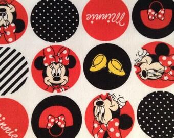 One Half Yard of Fabric Material - Minnie Scrubs