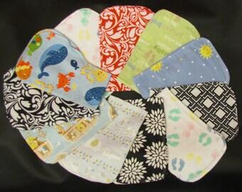 contoured flannel burp cloth