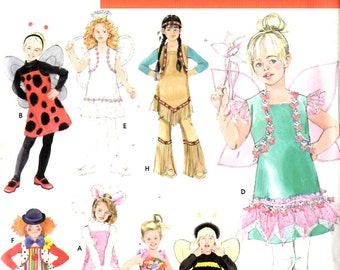 Simplicity 0698 Children's Halloween Costumes Size 3 to 8 New Uncut