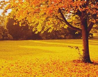 Yellow Autumn PDF Cross Stitch Pattern