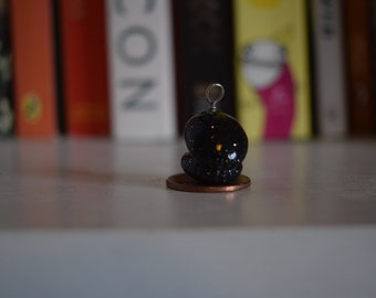 Polymer Clay Miniature Oyster and Pearl Charm