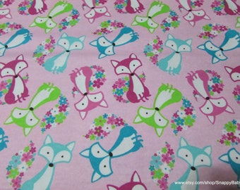 Flannel Fabric - Foxy Tail - 1 yard - 100% Cotton Flannel