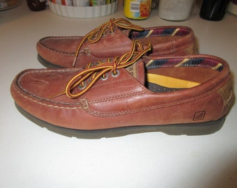 Vintage Sperry Topsiders Deck Shoes Size 8M