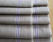 """Free Shipping !! Vintage Linen Mangle CLOTH """"purple white selvage / strip / border"""" Patchwork Quilting clothes bags cushion pad ..."""