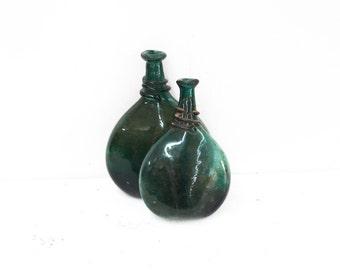 Emerald Green Saddle Bottle