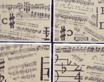 Music Themed Tile Coasters