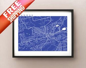 Dundas Map - Hamilton, Ontario poster art