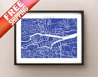 Cork Map Print - Ireland Poster