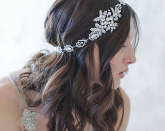Bridal Headpiece - Rhinestones Headpiece - Bridal Headband - Crystal Headpiece - Bridal Accessories