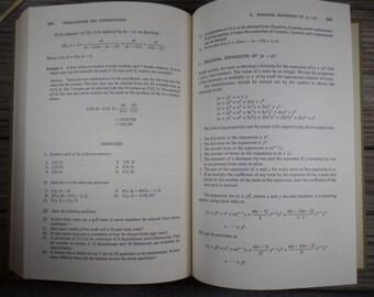 1975 Technical Mathematics Hard Cover Book Old Math Book Vintage Math Book Math Geek Gift Teacher Gift Nerdy Math Book Math Collectibles