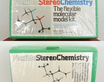 Vintage Flexible Stereo Chemistry Molecular Model Kit Darling Models New never Used Featuring an Easy Push/Pull coupling system