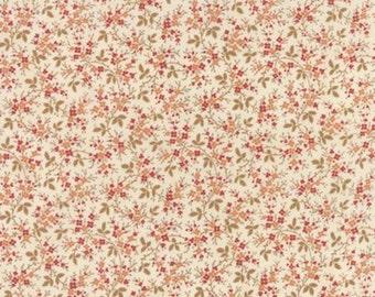 Larkspur Floral Vines Natural - 1/2yd