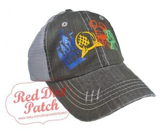 Disney world vacation hats- Four parks emblems