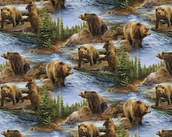 Wild Wings Not To Be Trifled With Scenic Bear Fabric From Springs Creative
