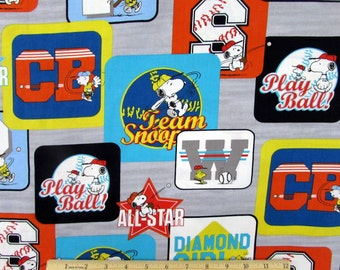 Peanuts All Star Patch Fabric From Quilting Treasures