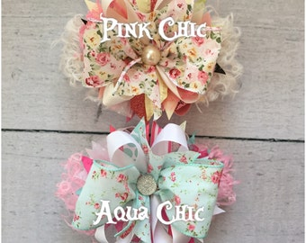 Floral Shabby Chic bows