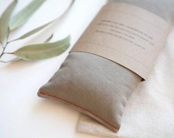 Linen Eye Pillow -  Olive Green Eyepillow - Yoga Prop - Eye Pillow for Men -Aromatherapy - Sleep Aid - Organic flax pillow - Minimalist