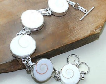 Sterling Silver Shiva Shell Bracelet