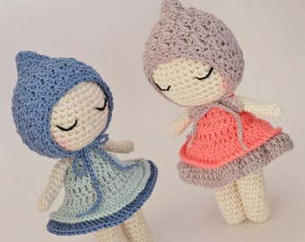 Crochet Amigurumi 7 Inch Doll PATTERN ONLY PDF Download Plush Doll Diy Handmade Doll Childrens Gift