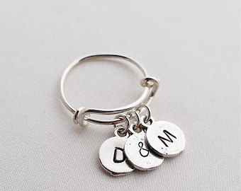 1/2/3 Round Charm Adjustable Ring