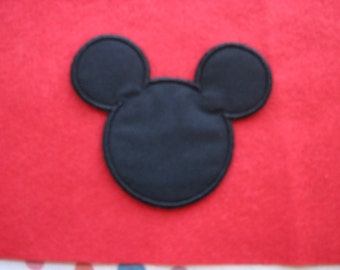 Mickey Mouse Ears Disney Iron on No Sew Embroidered Patch Applique