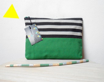Pocket striped vintage, 100% cotton.