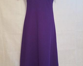 70s purple maxi nautical halter dress