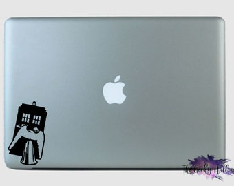 Doctor Who Angel and Police Box - Weeping Angel - Dont Blink - Laptop - Macbook - Car Window - Vinyl - Decal - Sticker