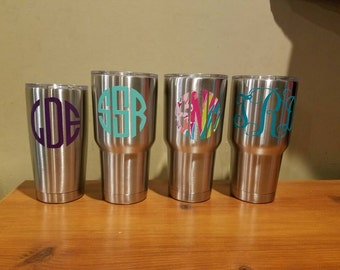 Monogrammed insulated tumblers 30oz