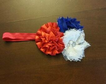 Fourth of July Headband - Red White Blue Headband - 4th of July Headbands