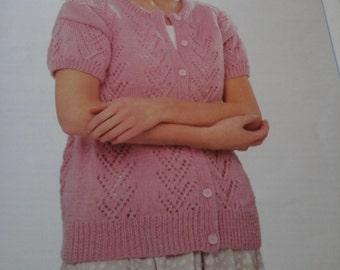 ladies short sleeved cardigan pattern