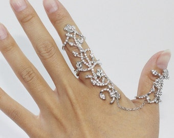 Womens Jewellery Rings Stacking Rings Chain Silver Gold Plated Knuckle Band Wedding Party Gift